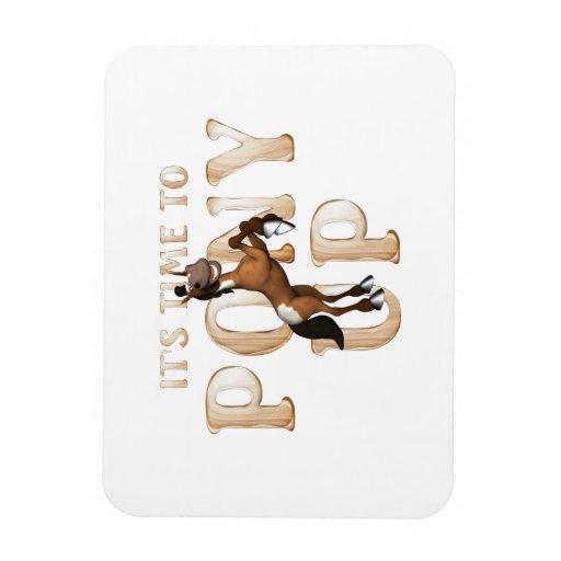 TEE Pony Up Vinyl Magnets