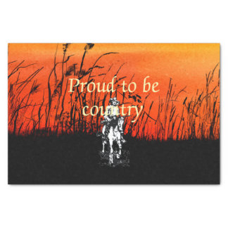 TEE Proud to be Country Tissue Paper