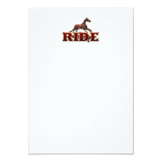 TEE Ride 13 Cm X 18 Cm Invitation Card