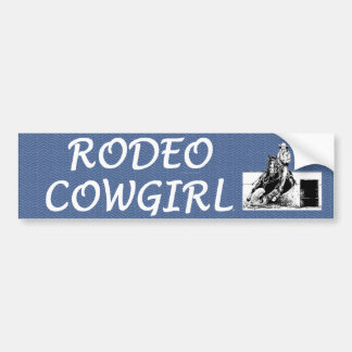 TEE Rodeo Cowgirl Bumper Sticker