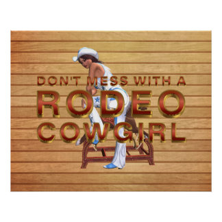 TEE Rodeo Cowgirl Slogan Posters