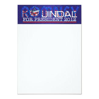 "TEE Romney Jindal 5"" X 7"" Invitation Card"