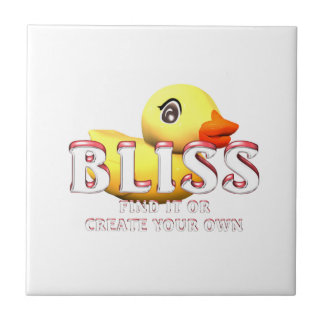 TEE Rubber Ducky Bliss Small Square Tile