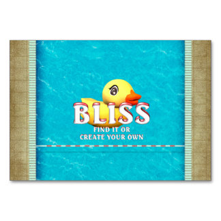 TEE Rubber Ducky Bliss Table Cards