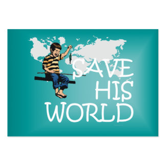 TEE Save His World Business Card