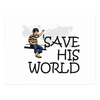 TEE Save His World Postcard