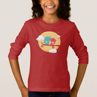 Tee-shirt BASIC A Sleeves Long line Animals T-Shirt