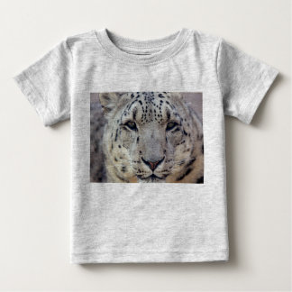 Tee-shirt in fine, Gray jersey: white tiger Baby T-Shirt