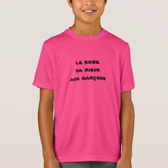 tee-shirt pink child boy T-Shirt