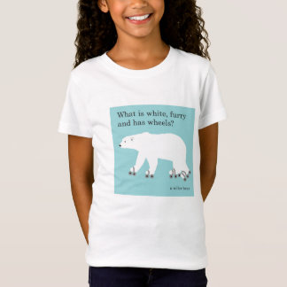 Tee Shirt - Polar Bear, Roller Skating Joke
