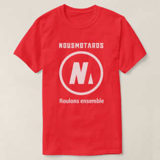 Tee-shirt Red Nousmotards Man T-Shirt