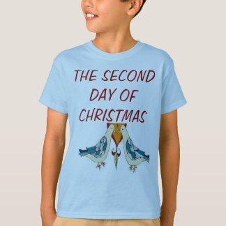 TEE SHIRT SECOND DAY OF CHRISTMAS TURTLE DOVES