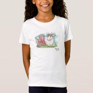Tee-shirt vegan, girl, cow and her calf T-Shirt