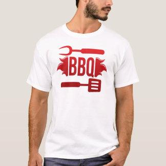 Tee-shirt White Man Barbecue T-Shirt