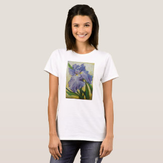 Tee shirt with Purple Iris