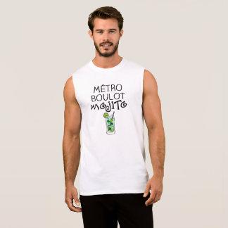 """Tee-shirt without handles Man """"Subway Mojito Job """" Sleeveless Shirt"""