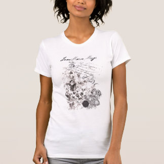 tee-shirt worn effect virgin baroque and angels T-Shirt