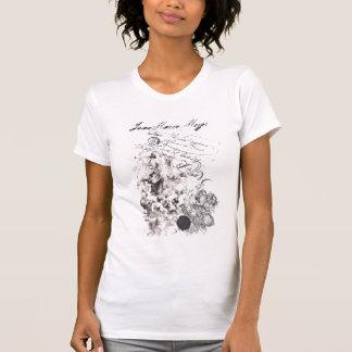 tee-shirt worn effect virgin baroque and angels tee shirts