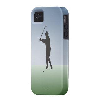 Tee Shot Female Golfer iPhone 4 Covers