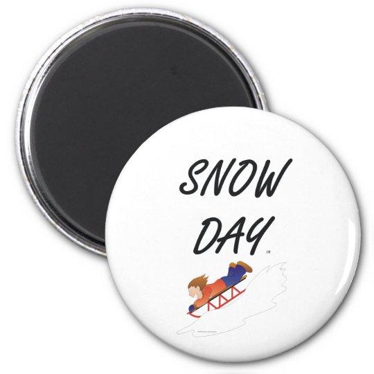 TEE Snow Day 6 Cm Round Magnet