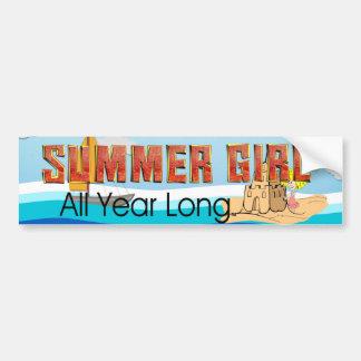 TEE Summer Girl Bumper Sticker