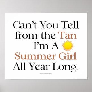 TEE Summer Girl Tan Poster