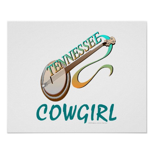 TEE Tennessee Cowgirl Poster