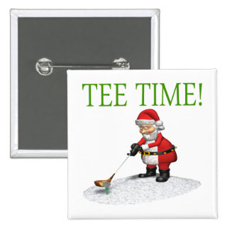 Tee Time 15 Cm Square Badge