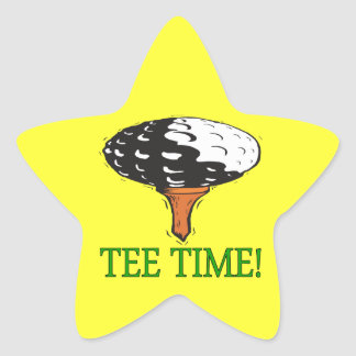 Tee Time Star Stickers