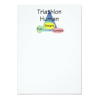 TEE Triathlon Human 13 Cm X 18 Cm Invitation Card