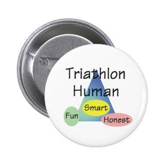 TEE Triathlon Human 6 Cm Round Badge