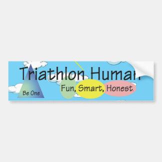 TEE Triathlon Human Bumper Sticker