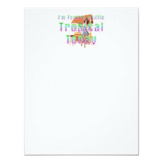 TEE Tropical Tiki 11 Cm X 14 Cm Invitation Card