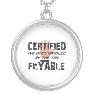 TEE TSA Slogan Round Pendant Necklace