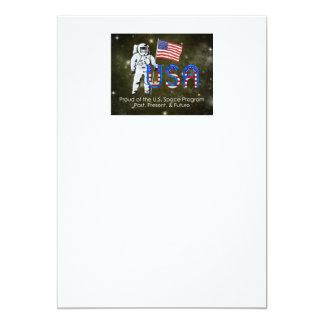 TEE U.S. Space Program 13 Cm X 18 Cm Invitation Card
