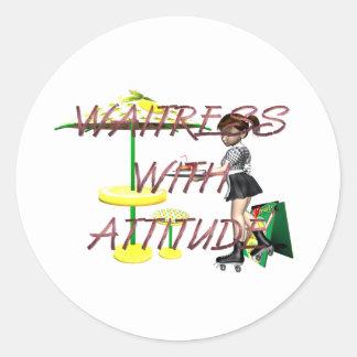 TEE Waitress with Attitude Stickers
