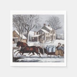 TEE Winter Ride Paper Napkins
