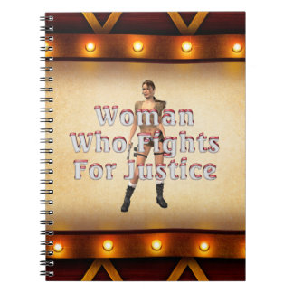 TEE Woman Justice Spiral Note Book