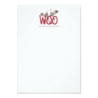 TEE Woo 13 Cm X 18 Cm Invitation Card