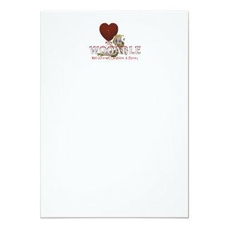 TEE Wooable Love 13 Cm X 18 Cm Invitation Card
