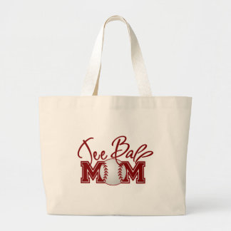 Teeball MOM Large Tote Bag