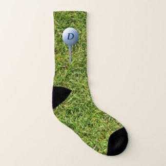 Teeing Off Green Grass Funny Golfing Socks 1