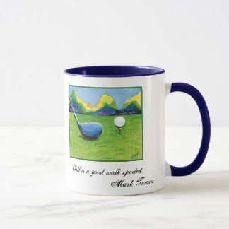 Teeing up golf mug