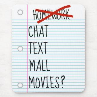 Teen After School Plans Mouse Mat