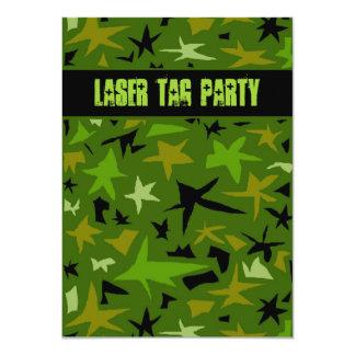 Teen Boys Birthday Camo Stars Party 11 Cm X 16 Cm Invitation Card