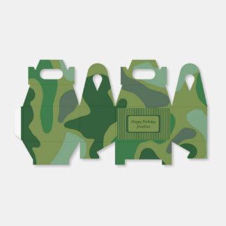 Teen Boys Green Camo Party Gift Box