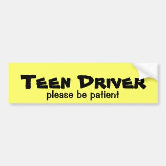Teen Driver Be Patient Bumper Sticker