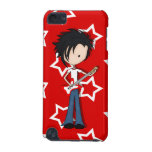 Teen Emo Boy Rock Guitarist with Black Hair iPod Touch 5G Covers