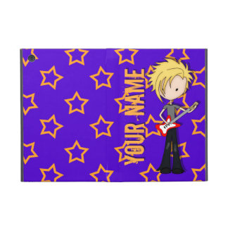 Teen Emo Rock Guitarist Musician with Blonde Hair Covers For iPad Mini