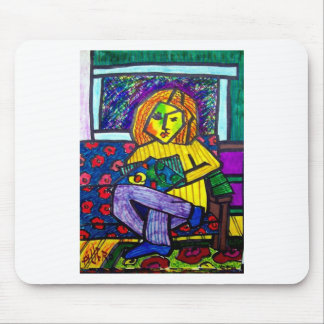 Teen on Couch by Piliero Mouse Pad